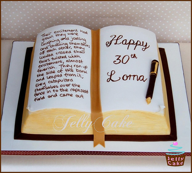30th-Book-Birthday-Cake-Food-Picture